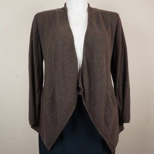 Eileen Fisher Cardigan Linen and Cotton Open Front